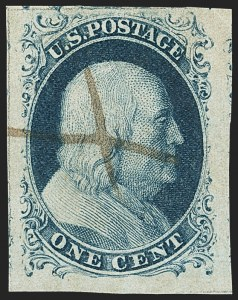 Sale Number 1150, Lot Number 556, 1c 1851-56 Issue (Scott 5-9)1c Blue, Ty. IIIa (8A), 1c Blue, Ty. IIIa (8A)