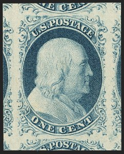 Sale Number 1150, Lot Number 558, 1c 1851-56 Issue (Scott 5-9)1c Blue, Ty. IV (9), 1c Blue, Ty. IV (9)