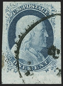 Sale Number 1150, Lot Number 560, 1c 1851-56 Issue (Scott 5-9)1c Blue, Ty. IV (9), 1c Blue, Ty. IV (9)