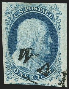 Sale Number 1150, Lot Number 561, 1c 1851-56 Issue (Scott 5-9)1c Blue, Ty. IV (9), 1c Blue, Ty. IV (9)