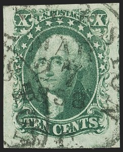 Sale Number 1150, Lot Number 583, 10c-12c 1851-56 Issue (Scott 13-17)10c Green, Ty. IV (16), 10c Green, Ty. IV (16)