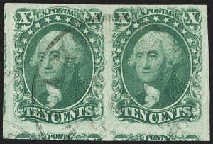 Sale Number 1150, Lot Number 584, 10c-12c 1851-56 Issue (Scott 13-17)10c Green, Ty. IV-II (16-14), 10c Green, Ty. IV-II (16-14)