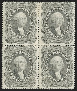 Sale Number 1150, Lot Number 624, 10c-90c 1857-60 Issue (Scott 31-39)24c Gray Lilac (37), 24c Gray Lilac (37)