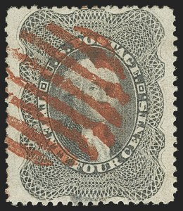 Sale Number 1150, Lot Number 625, 10c-90c 1857-60 Issue (Scott 31-39)24c Gray Lilac (37), 24c Gray Lilac (37)