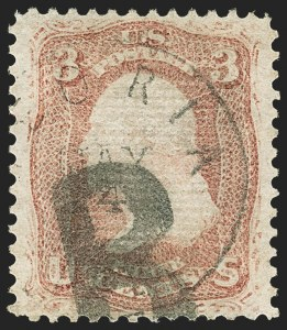 Sale Number 1150, Lot Number 680, 1867-68 Grilled Issue (Scott 79-101)3c Rose, Z. Grill (85C), 3c Rose, Z. Grill (85C)