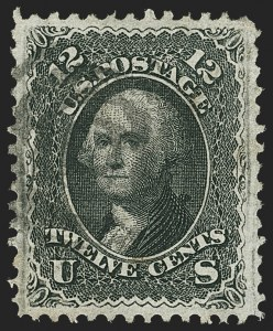 Sale Number 1150, Lot Number 690, 1867-68 Grilled Issue (Scott 79-101)12c Black, F. Grill (97), 12c Black, F. Grill (97)