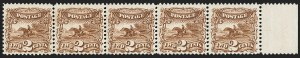 Sale Number 1150, Lot Number 712, 1c-24c 1869 Pictorial Issue (Scott 112-120)2c Brown (113), 2c Brown (113)
