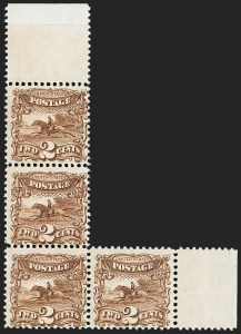 Sale Number 1150, Lot Number 713, 1c-24c 1869 Pictorial Issue (Scott 112-120)2c Brown (113). Mint N.H, 2c Brown (113). Mint N.H