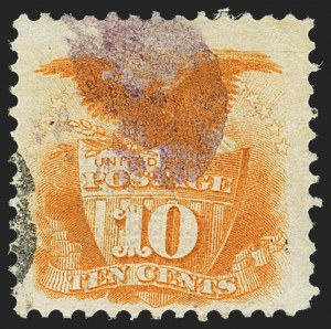 Sale Number 1150, Lot Number 721, 1c-24c 1869 Pictorial Issue (Scott 112-120)10c Yellow (116), 10c Yellow (116)