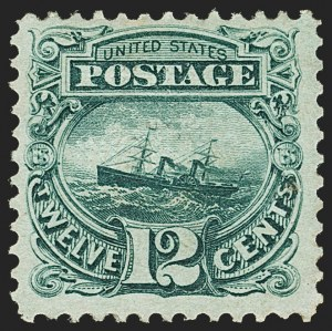 Sale Number 1150, Lot Number 723, 1c-24c 1869 Pictorial Issue (Scott 112-120)12c Green (117), 12c Green (117)
