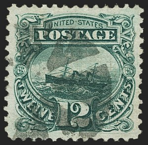 Sale Number 1150, Lot Number 724, 1c-24c 1869 Pictorial Issue (Scott 112-120)12c Green (117), 12c Green (117)