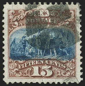 Sale Number 1150, Lot Number 726, 1c-24c 1869 Pictorial Issue (Scott 112-120)15c Brown & Blue, Ty. I (118), 15c Brown & Blue, Ty. I (118)