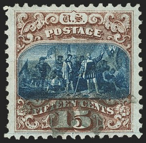 Sale Number 1150, Lot Number 727, 1c-24c 1869 Pictorial Issue (Scott 112-120)15c Brown & Blue, Ty. I (118), 15c Brown & Blue, Ty. I (118)