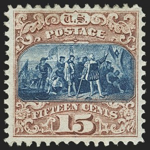 Sale Number 1150, Lot Number 728, 1c-24c 1869 Pictorial Issue (Scott 112-120)15c Brown & Blue, Ty. II (119), 15c Brown & Blue, Ty. II (119)