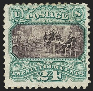 Sale Number 1150, Lot Number 733, 1c-24c 1869 Pictorial Issue (Scott 112-120)24c Green & Violet (120), 24c Green & Violet (120)