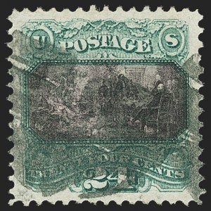 Sale Number 1150, Lot Number 734, 1c-24c 1869 Pictorial Issue (Scott 112-120)24c Green & Violet (120), 24c Green & Violet (120)