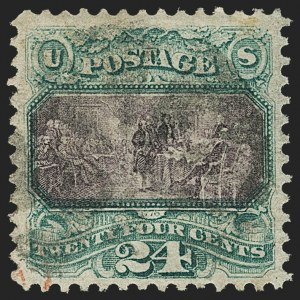 Sale Number 1150, Lot Number 735, 1c-24c 1869 Pictorial Issue (Scott 112-120)24c Green & Violet (120), 24c Green & Violet (120)