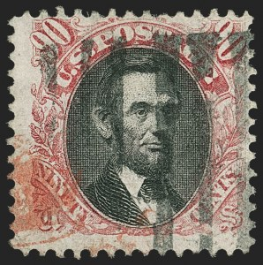 Sale Number 1150, Lot Number 740, 30c-90c 1869 Pictorial Issue and 30c Invert (Scott 121-122)90c Carmine & Black (122), 90c Carmine & Black (122)