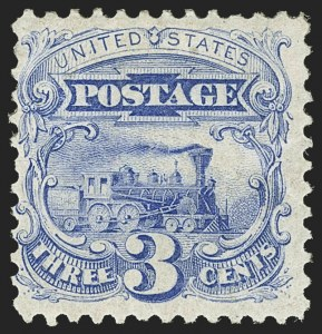 Sale Number 1150, Lot Number 742, 1875 Re-Issue of 1869 Pictorial Issue (Scott 123-133a)3c Blue, Re-Issue (125), 3c Blue, Re-Issue (125)