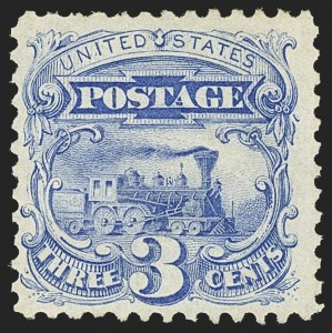Sale Number 1150, Lot Number 743, 1875 Re-Issue of 1869 Pictorial Issue (Scott 123-133a)3c Blue, Re-Issue (125), 3c Blue, Re-Issue (125)