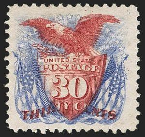 Sale Number 1150, Lot Number 757, 1875 Re-Issue of 1869 Pictorial Issue (Scott 123-133a)30c Ultramarine & Carmine, Re-Issue (131), 30c Ultramarine & Carmine, Re-Issue (131)