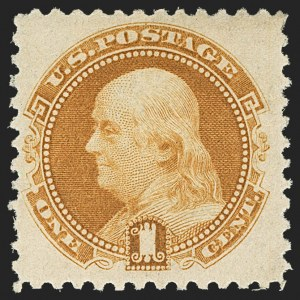 Sale Number 1150, Lot Number 763, 1875 Re-Issue of 1869 Pictorial Issue (Scott 123-133a)1c Buff, 1880 Re-Issue (133), 1c Buff, 1880 Re-Issue (133)