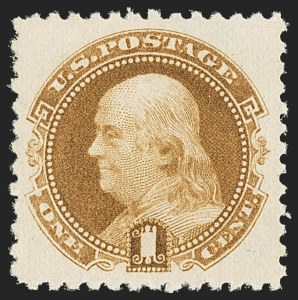 Sale Number 1150, Lot Number 764, 1875 Re-Issue of 1869 Pictorial Issue (Scott 123-133a)1c Brown Orange, 1881 Re-Issue (133a), 1c Brown Orange, 1881 Re-Issue (133a)