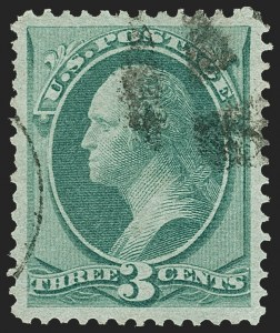 Sale Number 1150, Lot Number 769, 1870-71 National Bank Note Co. Grilled Issue (Scott 134-144)3c Green, H. Grill (136), 3c Green, H. Grill (136)