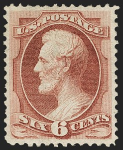 Sale Number 1150, Lot Number 771, 1870-71 National Bank Note Co. Grilled Issue (Scott 134-144)6c Carmine, H. Grill (137), 6c Carmine, H. Grill (137)