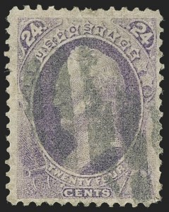 Sale Number 1150, Lot Number 774, 1870-71 National Bank Note Co. Grilled Issue (Scott 134-144)24c Purple, H. Grill (142), 24c Purple, H. Grill (142)