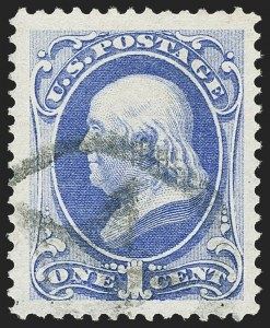 Sale Number 1150, Lot Number 775, 1870-71 National Bank Note Co. Grilled Issue (Scott 134-144)1c Ultramarine, I. Grill (134A), 1c Ultramarine, I. Grill (134A)