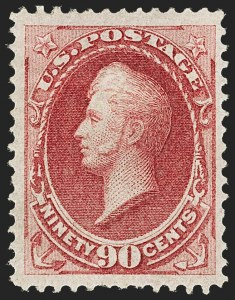 Sale Number 1150, Lot Number 784, 1870-71 National Bank Note Co. Ungrilled Issue (Scott 145-155)90c Carmine (155), 90c Carmine (155)