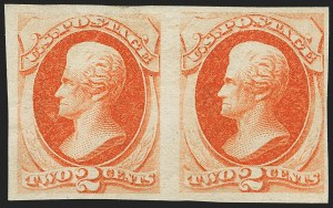 Sale Number 1150, Lot Number 806, 1875 Continental Bank Note Co. Issue (Scott 178-179)2c Vermilion, Imperforate (178a), 2c Vermilion, Imperforate (178a)