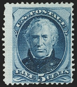 Sale Number 1150, Lot Number 808, 1875 Continental Bank Note Co. Issue (Scott 178-179)5c Blue, End Roller Grill (179c var), 5c Blue, End Roller Grill (179c var)
