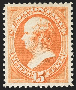Sale Number 1150, Lot Number 810, 1879 American Bank Note Co. Issue (Scott 182-191)15c Red Orange (189), 15c Red Orange (189)