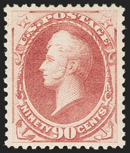 Sale Number 1150, Lot Number 812, 1879 American Bank Note Co. Issue (Scott 182-191)90c Rose (191), 90c Rose (191)