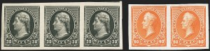 Sale Number 1150, Lot Number 827, 1890-93 Issue (Scott 219-229)1c-90c 1890-93 Issue, Imperforate (219c-229a), 1c-90c 1890-93 Issue, Imperforate (219c-229a)