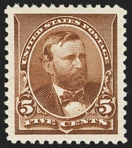 Sale Number 1150, Lot Number 828, 1890-93 Issue (Scott 219-229)5c Chocolate (223), 5c Chocolate (223)