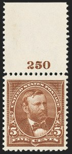 Sale Number 1150, Lot Number 888, 1895 Watermarked Bureau Issue (Scott 264-278)5c Chocolate (270), 5c Chocolate (270)