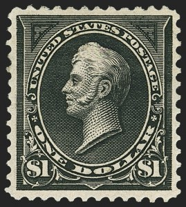 Sale Number 1150, Lot Number 892, 1895 Watermarked Bureau Issue (Scott 264-278)$1.00 Black, Ty. I (276), $1.00 Black, Ty. I (276)
