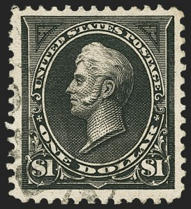 Sale Number 1150, Lot Number 893, 1895 Watermarked Bureau Issue (Scott 264-278)$1.00 Black, Ty. I (276), $1.00 Black, Ty. I (276)