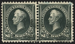 Sale Number 1150, Lot Number 894, 1895 Watermarked Bureau Issue (Scott 264-278)$1.00 Black, Ty. II (261A), $1.00 Black, Ty. II (261A)