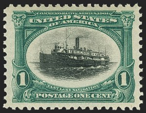 Sale Number 1150, Lot Number 928, 1901 Pan-American Issue (Scott 294-299)1c Pan-American (294), 1c Pan-American (294)