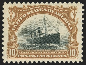 Sale Number 1150, Lot Number 936, 1901 Pan-American Issue (Scott 294-299)10c Pan-American (299), 10c Pan-American (299)