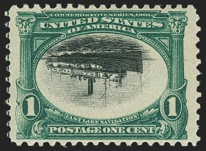 Sale Number 1150, Lot Number 937, 1901 Pan-American Issue Inverts (Scott 294a-296a)1c Pan-American, Center Inverted (294a), 1c Pan-American, Center Inverted (294a)