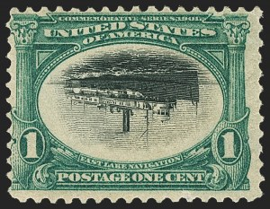 Sale Number 1150, Lot Number 938, 1901 Pan-American Issue Inverts (Scott 294a-296a)1c Pan-American, Center Inverted (294a), 1c Pan-American, Center Inverted (294a)
