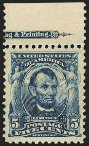 Sale Number 1150, Lot Number 945, 1902-08 Perforated Issues (Scott 300-313)5c Blue (304), 5c Blue (304)