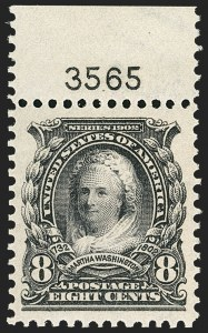 Sale Number 1150, Lot Number 947, 1902-08 Perforated Issues (Scott 300-313)8c Violet Black (306), 8c Violet Black (306)