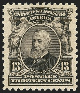 Sale Number 1150, Lot Number 949, 1902-08 Perforated Issues (Scott 300-313)13c Purple Black (308), 13c Purple Black (308)