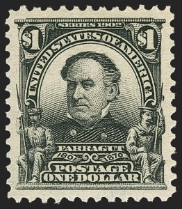 Sale Number 1150, Lot Number 954, 1902-08 Perforated Issues (Scott 300-313)$1.00 Black (311), $1.00 Black (311)